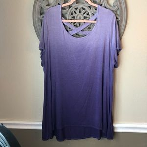 Sunday purple Ombré T-shirt 2X